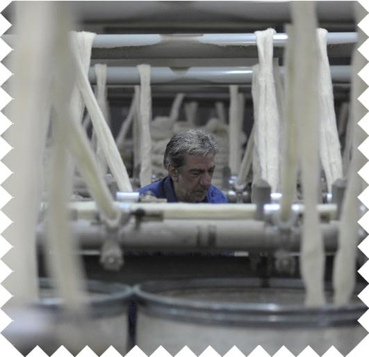 Interior de una fábrica textil
